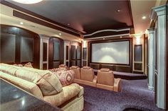 Simple DIY Home Movie Theater Design & Seating Ideas