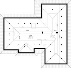 Projekt domu Willa Parterowa 2 135,75 m² - koszt budowy - EXTRADOM Model House Plan, Family House Plans, Best House Plans, Dream House Plans, Modern House Facades, Modern Bungalow House, Village House Design, Village Houses, Home Building Design