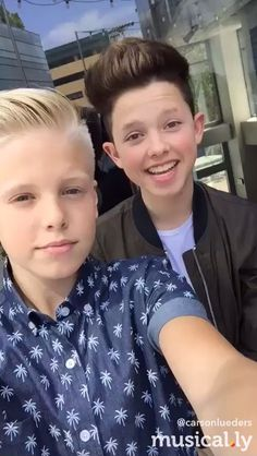Carson lueders and Jacob Sartorius!!