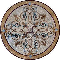 MD090 Marble Mosaic Medallion Tile