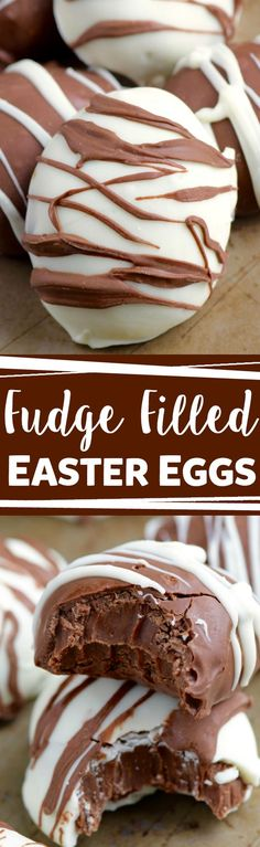 These Fudge Filled Easter Eggs look gourmet but they are actually super easy and SUPER fast! Amazingly delicious too!: