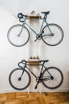DIY bicycle rack for two. More