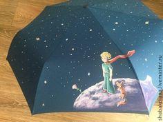 """Купить Зонт """"Маленький принц"""" - авторская роспись, роспись зонта, 8 марта, эксклюзивные подарки"""