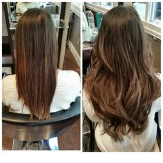 """Four packs of 18"""" micro beads, creating a soft ash brown ombre- Dallas Hair Extensions by: Christian Nail"""