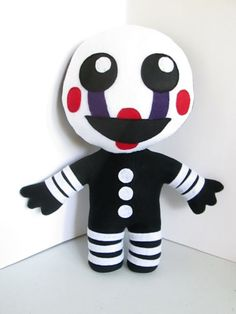 Your place to buy and sell all things handmade - - Marionette Plush Inspired by Five Nights at Freddy's (Unofficial) The Puppet Plush, FNAF Plush Five Nights At Freddy's, Freddy Toys, Chibi, Fnaf Sister Location, Mermaid Blanket, Craft Stick Crafts, Plushies, Puppets, Tigger