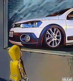 Aquele Sonho de Criança de Ter Uma Saveiro! 😍👏<3 Vw Golf Wallpaper, Mercedes Wallpaper, Batman Wallpaper, Car Volkswagen, Vw Cars, My Dream Car, Dream Cars, Lamborghini Cars, Car Drawings