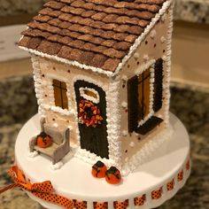 Way better than a birthday cake! I got a whole house, with a kitty in the window and everything! Thank you my sweet friend it's perfect! Halloween Gingerbread House, Gingerbread Houses, Halloween House, Cookie House, Paper Houses, Home Crafts, You And I, Birthday Cake, Kitty