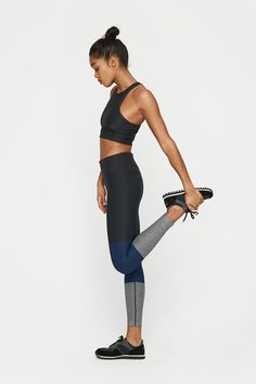 Outdoor Voices colorblocked leggings