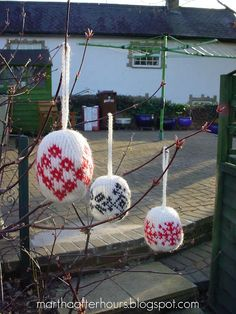 Scandinavian Knitted Balls by marthaafterhours