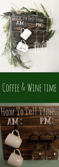 How to tell time|How to tell time am pm|how to tell time sign|coffee mug holder|coffee board|wine glass holder|gifts for her #affiliatelink