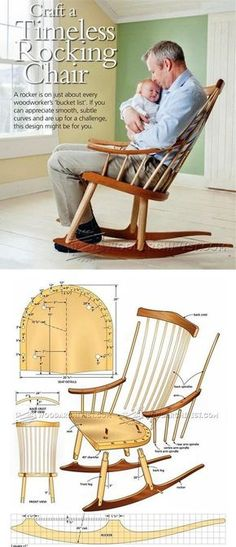 Rocking Chair Plans - Furniture Plans and Projects   WoodArchivist.com