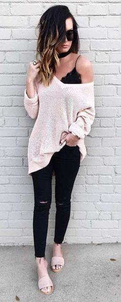 Learn Casual Fall Outfit inspiring ideas (but neat) design and style women will surely be wear around right now. casual fall outfits for work Casual Outfits For Teens, Casual Winter Outfits, Casual Fall Outfits, Boho Outfits, Spring Outfits, Fashion Outfits, Party Outfit Casual, Cute Sweater Outfits, Fall Party Outfits