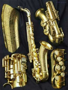 One-Handed Saxophone. I wonder if you could have one made for the other hand and then do some serious Roland Kirk stuff. Saxophone Instrument, Soprano Saxophone, Saxophone Players, Roland Kirk, Sax Man, Cool Jazz, Trombone, Band Memes, Music Stuff