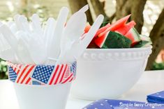4th of July Table Decorations - Hoosier Homemade Paper Flower Centerpieces, Paper Flowers, How To Make Pinwheels, 4th Of July, Joy, Homemade, Table Decorations, Home Decor, Decoration Home