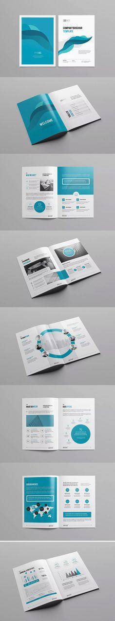 Clean & Modern Multipurpose Brochure Template InDesign INDD - A4 - Unlimited Downloads