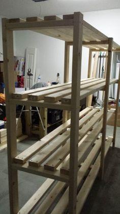 storage shelves for garage plans | easy wood shelf design