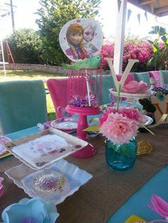 Frozen Vintage Party Theme Setup Birthday Party Ideas   Photo 4 of 26   Catch My Party