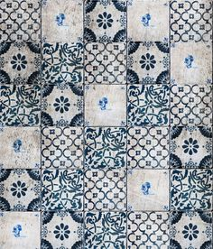 blue + white tile