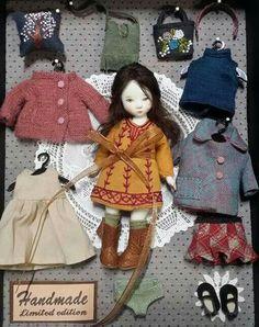 Felt Dolls, Doll Toys, Antique Dolls, Vintage Dolls, Barbie, Doll Wardrobe, Tiny Dolls, Sewing Dolls, Miniature Dolls