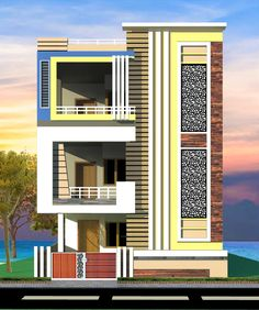 House Outer Design, House Arch Design, House Balcony Design, 3 Storey House Design, House Outside Design, Village House Design, Bungalow House Design, Small House Design, Indian House Exterior Design
