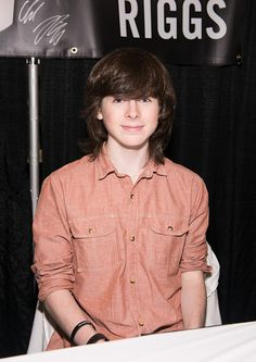Chandler Riggs attends the 2014 New York & New Jersey Walker Stalker Con - Day 1 at Meadowlands Exposition Center on December 13, 2014 in Secaucus, New Jersey