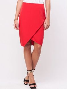 fe3bc2270 KOOVS Wrap Pencil Skirt Business Lady, Business Women, Buy Skirts Online,  New Outfits