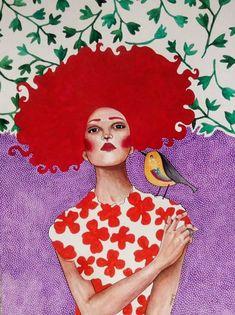 Pinzellades al món: Dones il·lustrades per Hülya Özdemir / Mujeres ilustradas / Women illustrated by Hülya Özdemir Art And Illustration, Illustrations And Posters, Watercolor Illustration, Watercolor Art, Art Pop, Painting Inspiration, Art Inspo, Frida Art, Portrait Art