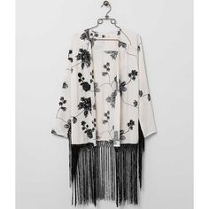 Lira Spiral Out Cardigan - Cream Medium ($34) ❤ liked on Polyvore featuring tops, cardigans, cream, embroidered kimono, cream top, embroidered top, kimono cardigan and fringe kimono