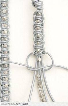 armband kraal en macrame