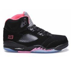 05273a8d163c Nike Air Jordan Retro 5 V Womens GS Black Pink. Cheap SneakersNike ...