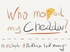 Cheddar, the task list manager with Markdown support is now free and under new ownership. Cheddar, About Me Blog, Management, Wedding Ideas, Canning, Free, Cheddar Cheese, Home Canning, Wedding Ceremony Ideas