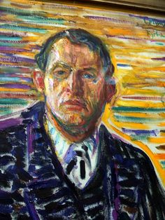 Edvard Munch  // self portrait -                                                                                                                                                                                 Mais