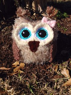 Fuzzy crochet owl