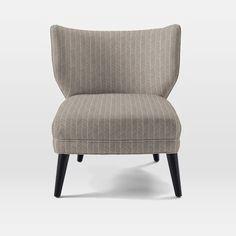 08-06_Retro Wing Chair | west elm_Prints, Herringbone Print, Platinum
