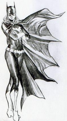 art penciled by Alex Ross :BATMAN FAMILY(Batgirl)