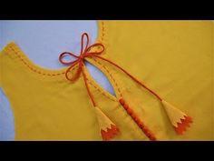 Latest neck design cutting and stitching in an easy way - ArtsyCraftsyDad Churidhar Neck Designs, Neck Designs For Suits, Blouse Back Neck Designs, Neckline Designs, Sleeves Designs For Dresses, Sleeve Designs, Dress Designs, Blouse Designs, Salwar Suit Neck Designs