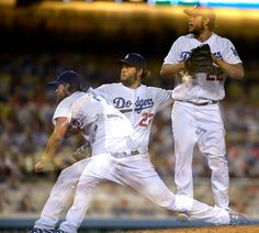 . Kershaw is captured on the mound in a multiple exposure in during the 8th inning. Clayton Kershaw and theThe Dodgers shut out the Philadelphia Phillies 5-0 at Dodger Stadium in Los Angeles, CA 7/8/2015 (Photo by John McCoy Daily News)