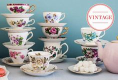 vintage tea time @One Kings Lane