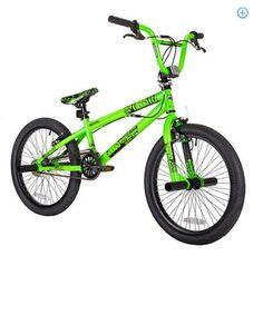 Boys BMX Bike  Moto Cross Mountain Stunts Tricks School Free Style Green