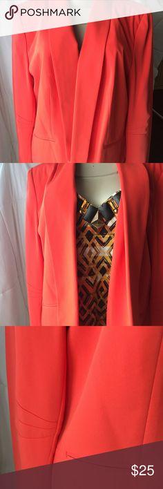 Chaus New York Melon Orange Womans Jacket 16