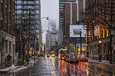 photo by Ben Roffelsen: Rain on King and Spadina Toronto Top Toronto Restaurants, Downtown Toronto, Canada Eh, Toronto Canada, Toronto Architecture, Rainy Mood, Summer Rain, City That Never Sleeps, Photos Of The Week