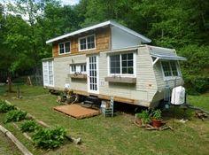 Travel trailer tiny house remodel idea