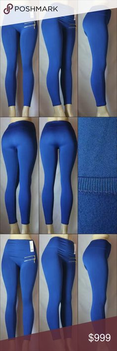 Coming Soon! Royal Blue Fleece lined leggings with zippers! These pants are absolutely gorgeous and top quality. The color is stunning and I'm sure you will absolutely love these leggings! Pants Leggings
