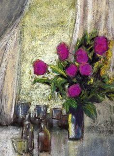 pastel painting still life and
