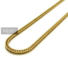 So Icy Jewelry offers 10K Rose Solid Gold Franco Link