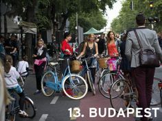 Top 6 cycling cities in 2014 – head east! Bicycle Friendly Cities, Cycle Chic, Fashion Show, World, Bike Stuff, Budapest Hungary, Cycling, Spaces, Business