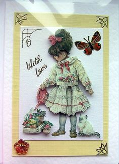 Sweet Garden HandCrafted 3D Decoupage Card  With by SunnyCrystals, $3.55