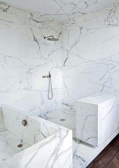 Bagno marmo Calacata