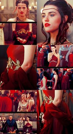 Morgana's Burgundy Party Dress. I think she only wears this three time in the entire show: the party in 1x01, when Arthur was escorting her to the feast in 1x02, when she was making googly eyes at Arthur in 1x05, and while she was dining with Uther in 1x08.