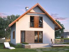 DOM.PL™ - Projekt domu MT Jagoda CE - DOM ST9-69 - gotowy koszt budowy House Viewing, Gable Roof, House Rooms, Traditional House, Home Fashion, New Homes, Farmhouse, House Design, Mansions